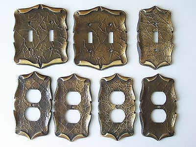 Lot Vintage Amerock Carriage House Brass Light Switch Plate & Outlet Plate Cover