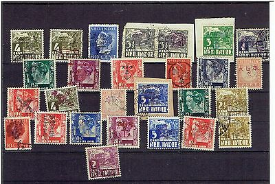 Japanese occupation stamps Dutch  Indie's used