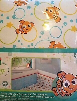 Brand new!  Disney FINDING NEMO  Secure Me Crib Baby Bumper  A Day at the Sea