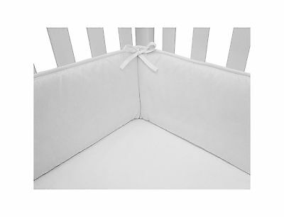 American Baby Company 100% Cotton Percale White Infant Crib Bumper