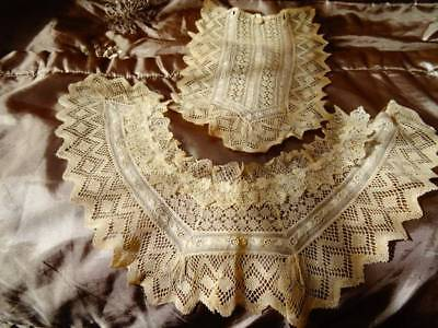 An Exquisite Handmade Collar & Dress Front Embroidered Floral Embellishment