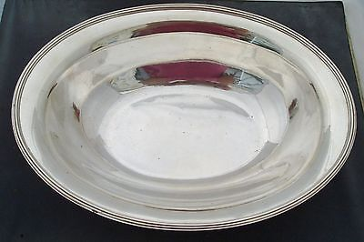 HUGE & HEAVY FRENCH SOLID SILVER .950 GRADE OVAL BOWL ANDRE AUCOC 1200g