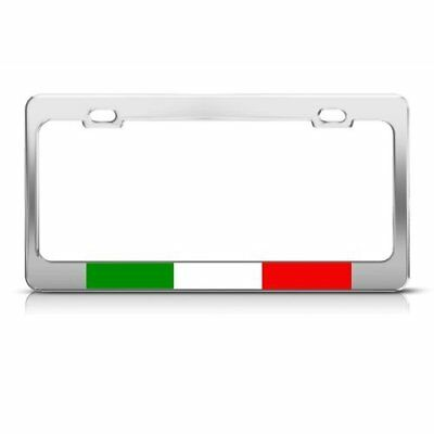 Italian Flag Italy Country Metal License Plate Frame Tag Holder Fade Resistant