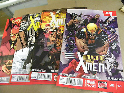Marvel 2014 1st 3 issues WOLVERINE AND THE X-MEN 1 2 3 4 qq