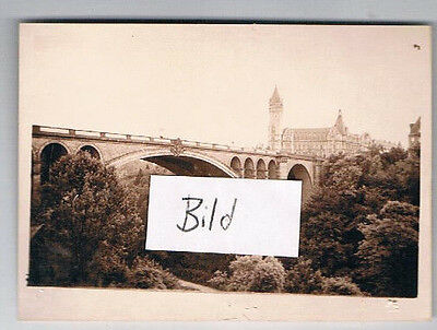 Foto: Luxemburg, le pont Adolphe 1937, Luxembourg
