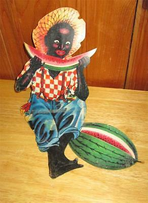 Black Americana Dixie Boy Watermelon Eating Sitting Die Cut