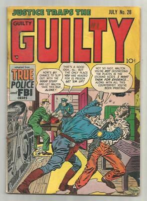 Justice Traps the Guilty #28, July 1951