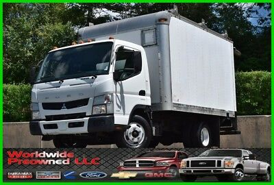 2012 Mitsubishi Fuso Fe125 Cab Over Box Truck 3.0L Turbo Diesel Used Tilt Ramp