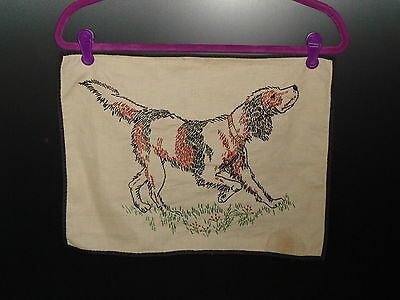 Vintage Embroidery of a Pointer Dog 1940's - 1950's