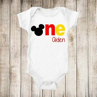 Birthday Boy Mickey Mouse Personalized t-shirt ANY NAME 1st Birthday NEW