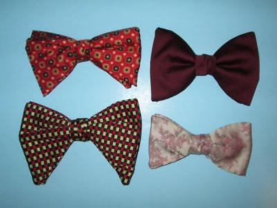 Four ca. 1970s Clip-on Bow Ties