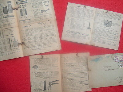 1920's (4 pc) Female Hygiene,Quack DEVICES,PICTURES,Document for overseas lot