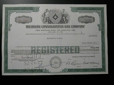 $5000 Michigan Consolidated Gas Company bond / stock certificate