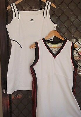 2 X Adidas Tennis Dresses in White Size 14 Large