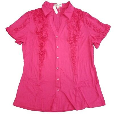 Wholesale Lot of 5 Fashion Model Plus Size 1x Pink Rosette Blouses LB92