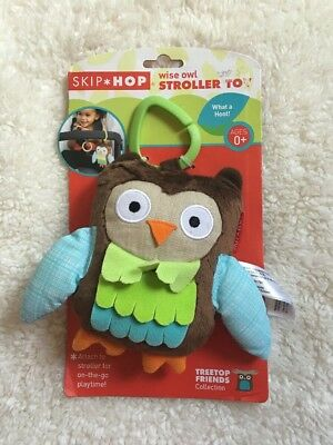 Skip Hop Baby Treetop Friends Stroller Toy  Wise Owl