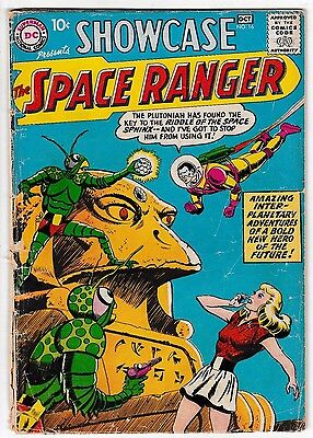 SHOWCASE 16 (GD/VG) 2nd Appearance of the SPACE RANGER! Early DC Silver-Age 1958
