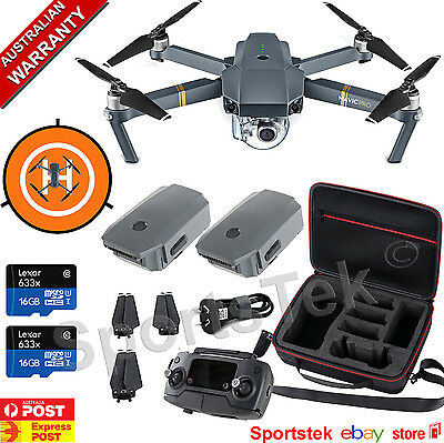 Dji Mavic Pro Custom Australian Bundle 4K Drone Australian Stock + Extra Battery