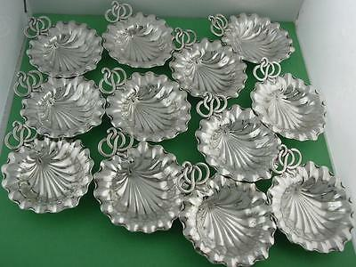 12 Sterling DURGIN Nut Dishes & Card Holders Aesthetic Pond Lily design no.5B
