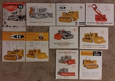 Allis Chalmers HD11 and HD11G Sales Literature 50's and 60's