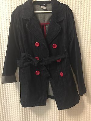 Gymboree Denim Double Breasted Jacket, Size 7-8
