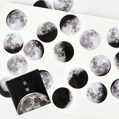 45Pcs/box Cute Creative Moon Mini Paper Sticker Diary Scrapbooking Label Sticker