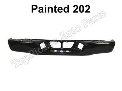 Painted 202 Black Rear Bumper Face Bar For 2007-2013 Toyota Tundra W/o Hole