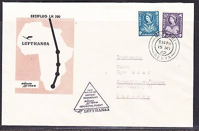 KUT 1962 Lufthansa LH700 Nairobi to Germany   Flight Cover