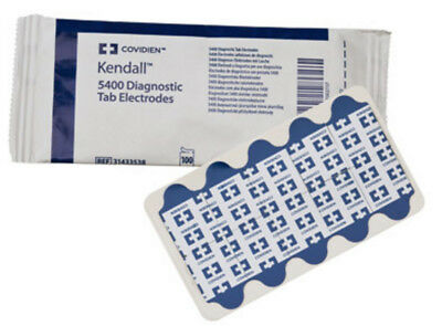 Covidien 31433538 Kendall 5400 Diagnostic Tab ECG Electrodes - Pack of 100