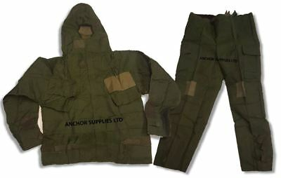 2 for £15 British Army NBC SUIT Vacuum Sealed OLIVE GREEN MK4 180/100  44''Chest
