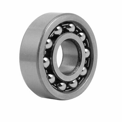 12mmx32mmx10mm Double Row Self Aligning Ball Bearing Silver Gray 1201