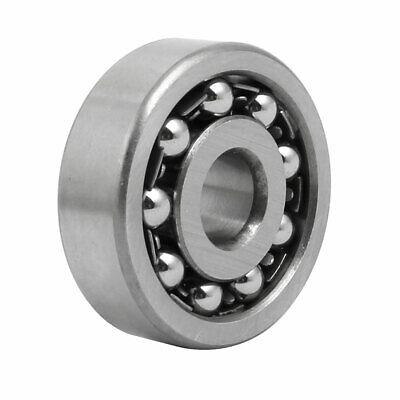 10mmx35mmx11mm Double Row Self Aligning Ball Bearing Silver Gray 1300