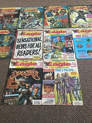 the eagle-dan dare comic 1990 job lot-2