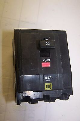 Square D Qob320 Circuit Breaker 20 Amp 120/240 Vac 3 Pole Bolt On