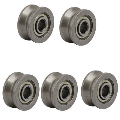 V624ZZ 4mmx13mmx6mm Sealed V-Groove Pulley Rail Ball Bearing Silver Tone 5pcs