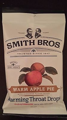 120 Cough Drops Smith Bros Brothers Warm Apple Pie (4) 30 Count Bags Exp 9/17