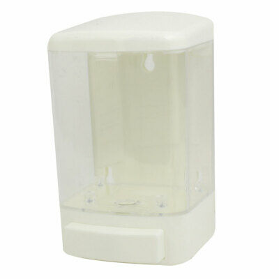 ABS+PS Plastic 1000ML Wall-Mount Bathroom Liquid Soap Dispenser White Clear