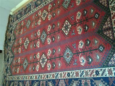 """Traditional style vintage carpet rug red ground all wool 112 x 85"""""""
