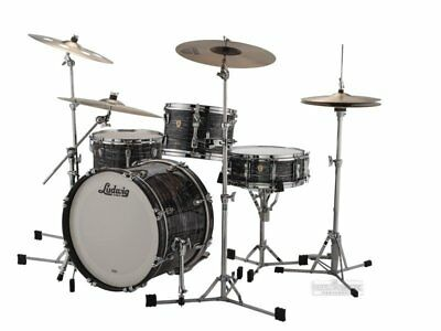 Ludwig Classic Maple Downbeat 20 Shell Pack w/FREE Snare – Vintage Black Oyster