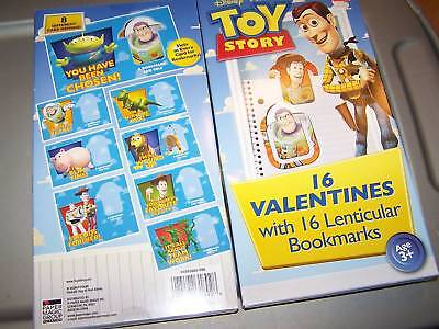 New in Box 16 Disney Toy Story Valentines Day Cards with Bookmarks Woody Buzz