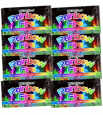 Colourful Fire Rainbow Fire Coloured Flame Packets Campfire BBQ Logs Wood
