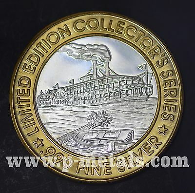 Harrahs Tunica Mississippi Limited Edition Gaming Token .999 Fine Silver