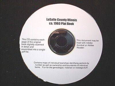 CD ~ ca.1960's La Salle County Illinois Plat Map Book