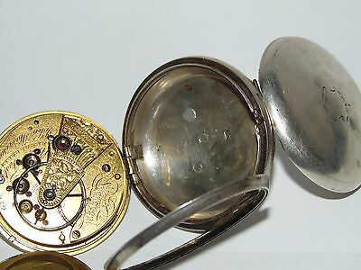 ANTIQUE 1861 SILVER CASED JOHN HARRISON of LIVERPOOL PATENT FUSEE POCKET WATCH