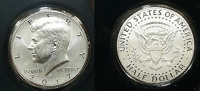 2017-S ENHANCED UNCIRCULATED Kennedy HALF DOLLAR - Just the $1/2 coin - IN HAND