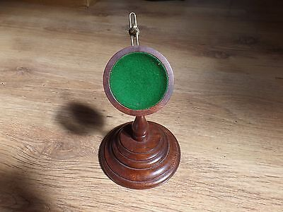 Antique Wooden Dressing Table Pocket Watch Display Stand