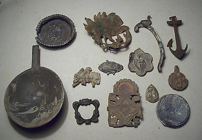 Dug Lot Metal Detecting Finds Post Medieval And Later. 13 pieces