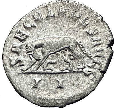 PHILIP I the ARAB 1000 Years of Rome Twins & She Wolf Silver Roman Coin i63376