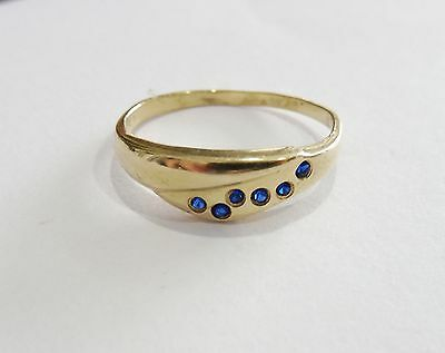 Gold - Ring mit 6 Saphire, 585 Gold ! ! !