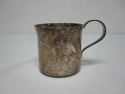 Tiffany + Co. Heavy Sterling Silver Baby Cup W/ Monogram